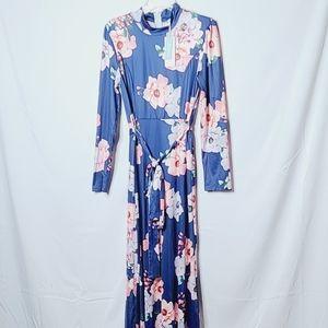 NWT Cupshe floral long sleeve maxi dress sz M